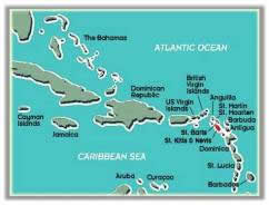 Map of Caribbean